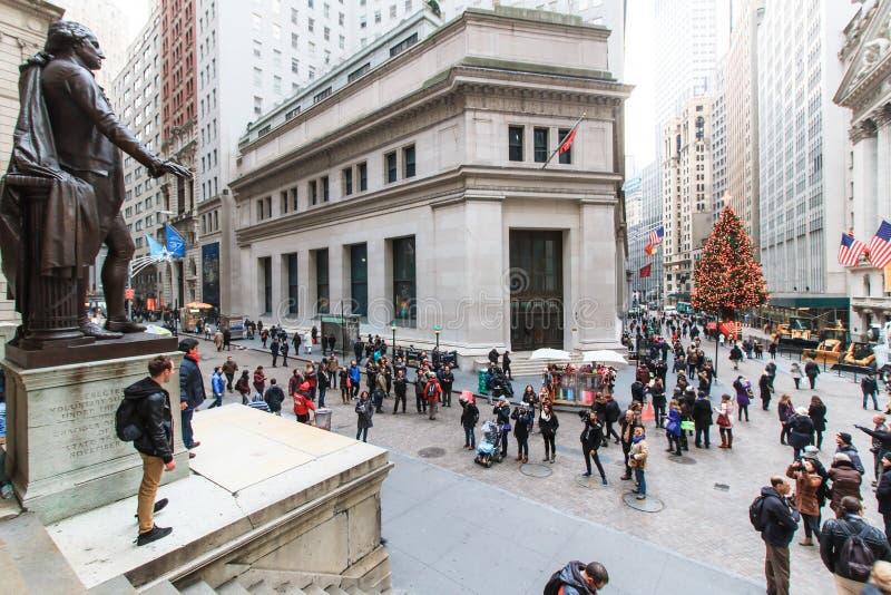 Wall Street fotos de archivo