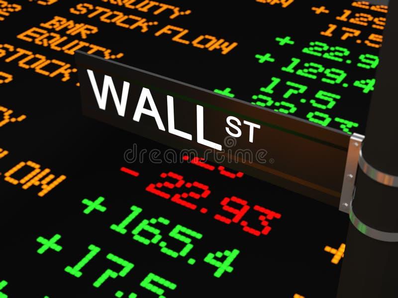 Wall Street illustrazione vettoriale