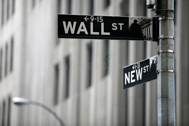 Wall Street royalty-vrije stock foto