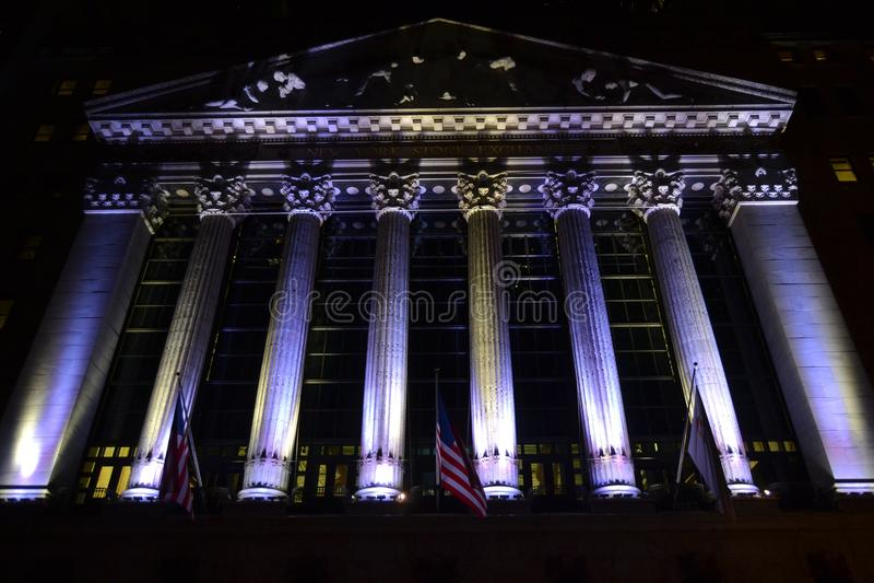 Wall Street imagem de stock