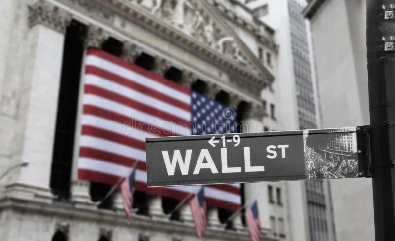 Wall Street royalty-vrije stock fotografie