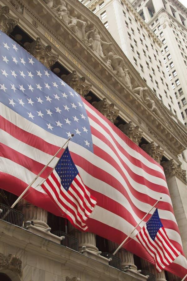 Wall Street-Börse von New York lizenzfreies stockfoto
