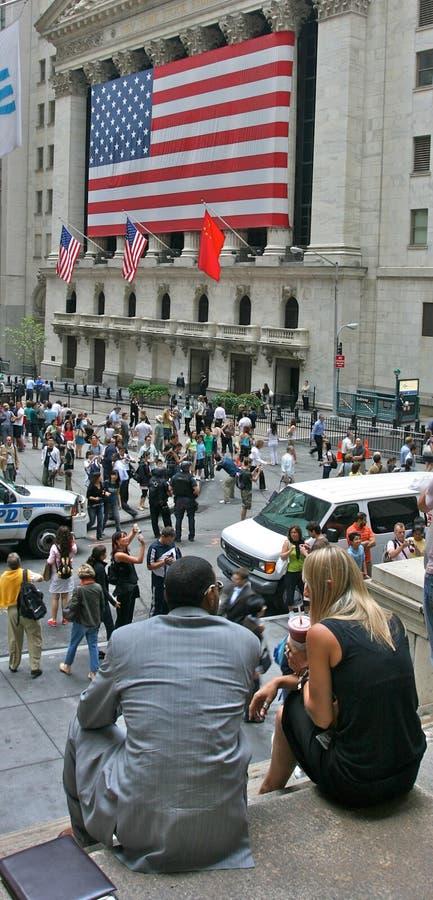 Wall Street - Börse von New York stockbilder