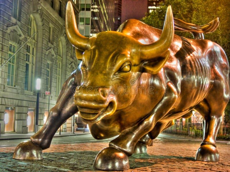 Wall Street Bull fotografia stock libera da diritti