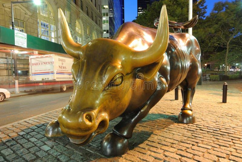 Wall Street Bull images libres de droits