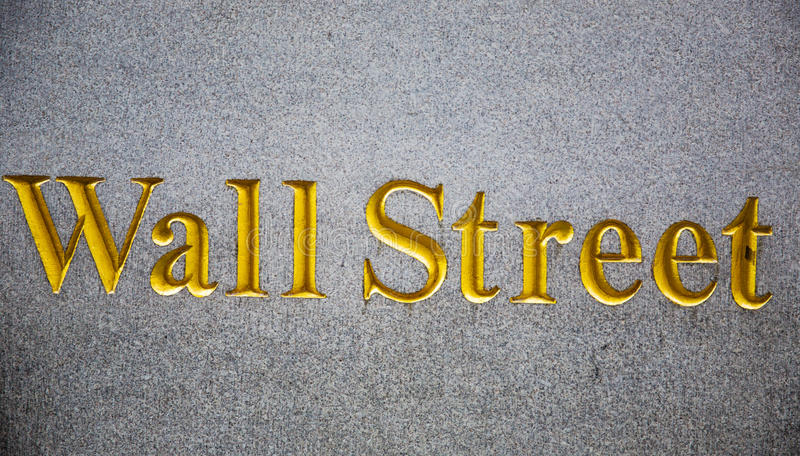 Wall street carved in stone royalty free stock photo