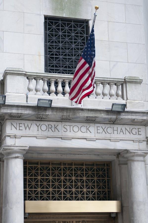 Wall Street in de Stad van New York stock foto's