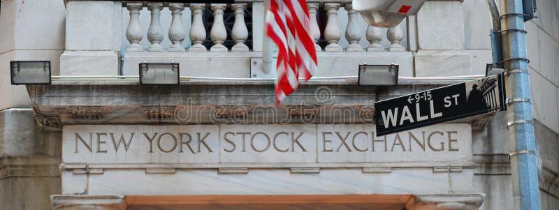 Wall Street e Borsa di New York immagini stock libere da diritti