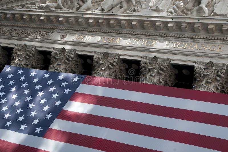 Wall Street em New York City imagens de stock royalty free