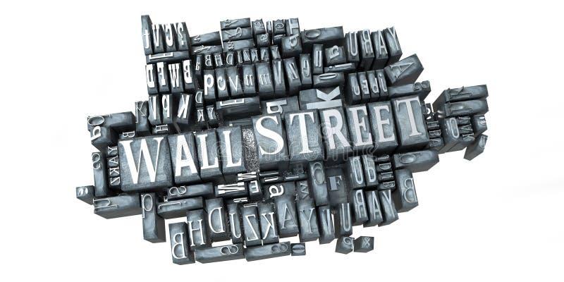 Wall Street en la impresión stock de ilustración