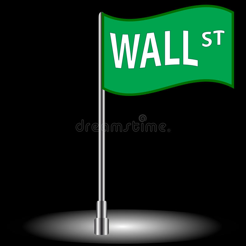Download Wall street flag stock vector. Image of exchange, urban - 28619981