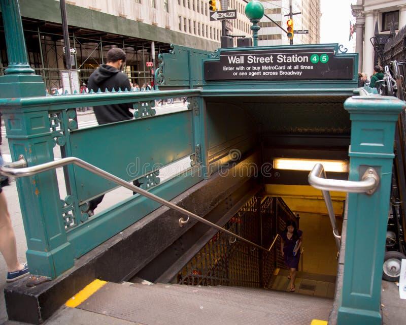 Wall Street gångtunnel arkivfoton