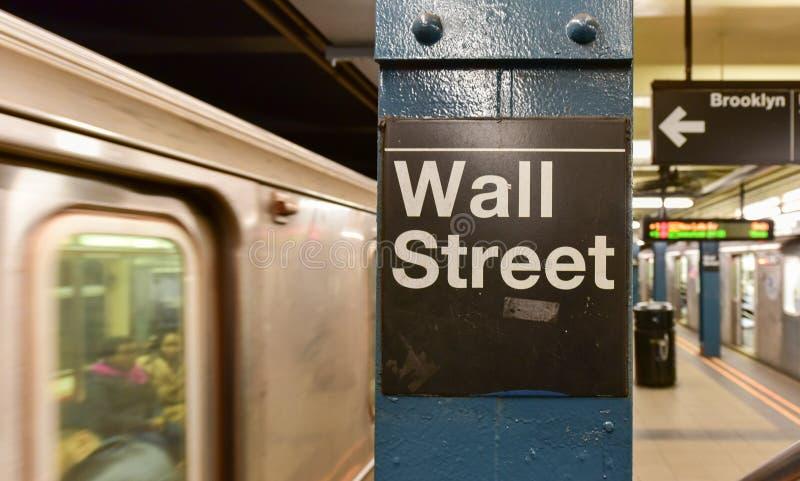 Wall Street gångtunnelstation, New York City royaltyfri bild