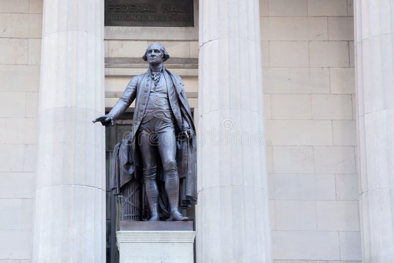 Wall Street George Washington imagenes de archivo