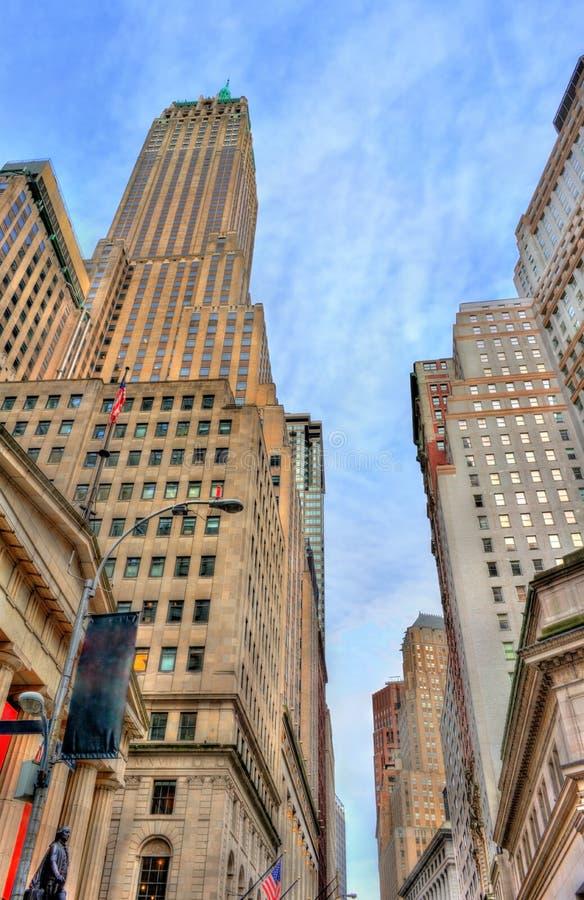 40 Wall Street, historyczny budynek w Manhattan, Miasto Nowy Jork Budujący w 1930 obraz royalty free