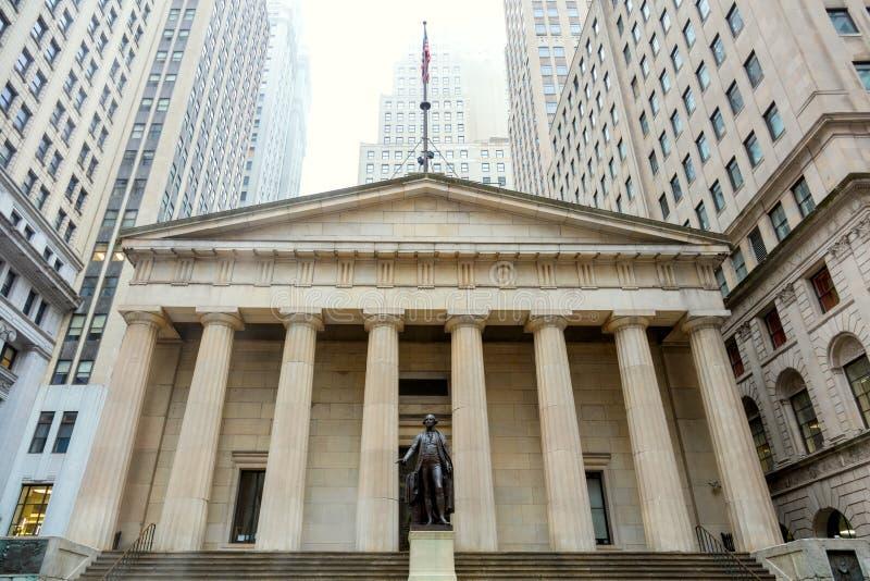 Wall Street Manhattan, New York City arkivfoton