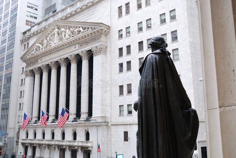 Wall Street, New York City photo stock