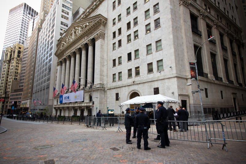 Wall Street New York City foto de archivo