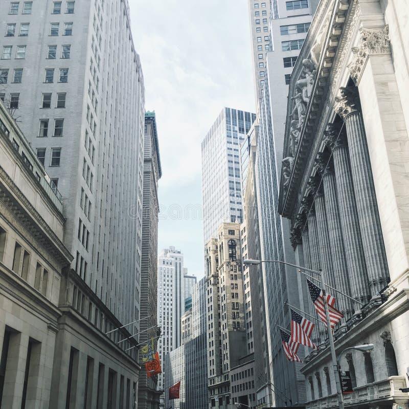 Wall Street, New York City fotografía de archivo libre de regalías