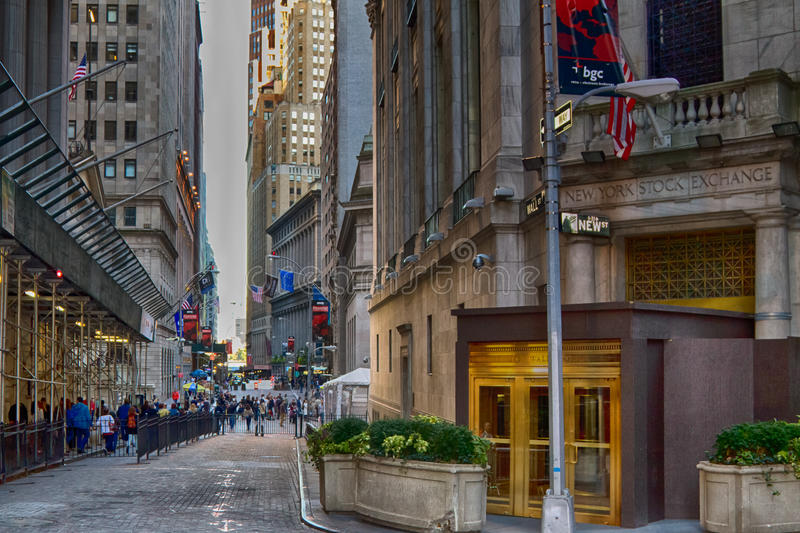Wall Street. New York, USA stock photography
