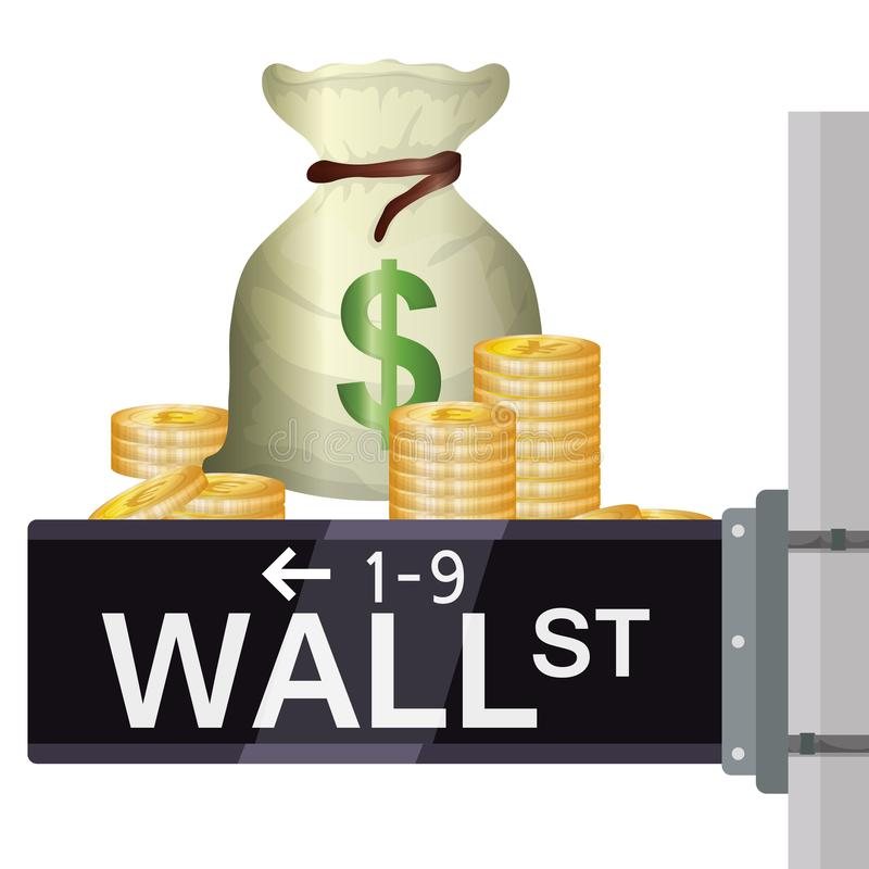 Wall street new york royalty free illustration