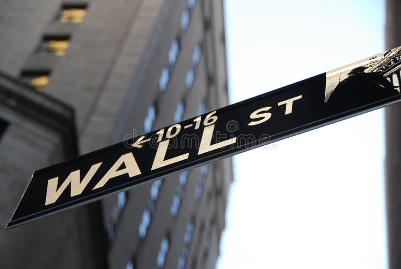 Wall Street Nueva York fotografía de archivo