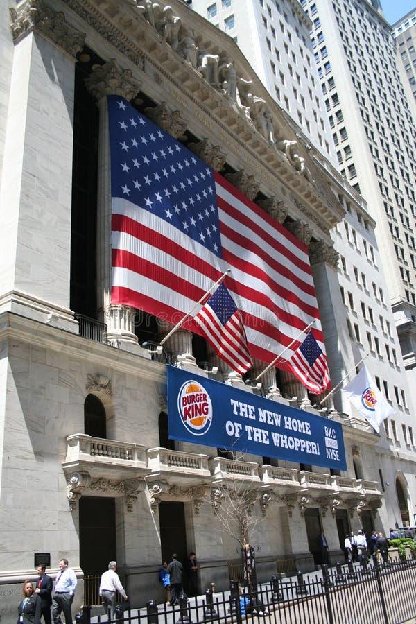 Wall Street, NYSE fotografie stock libere da diritti