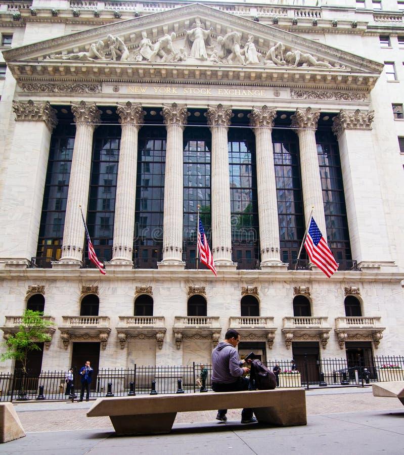 Wall Street, NYSE immagine stock libera da diritti