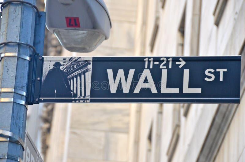 Wall Street och New York Stock Exchange, New York City, USA royaltyfri fotografi