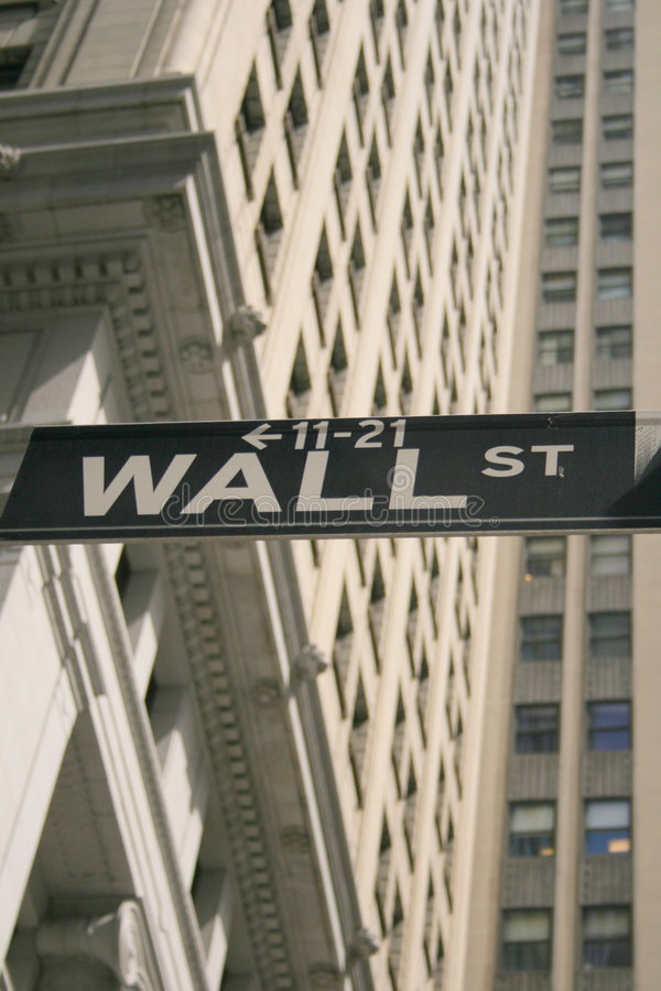 Wall street shuffle. Finding your way around wall street stock image