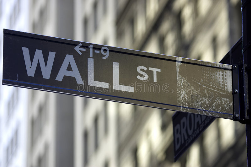Download Wall street sign editorial stock photo. Image of blurred - 349978