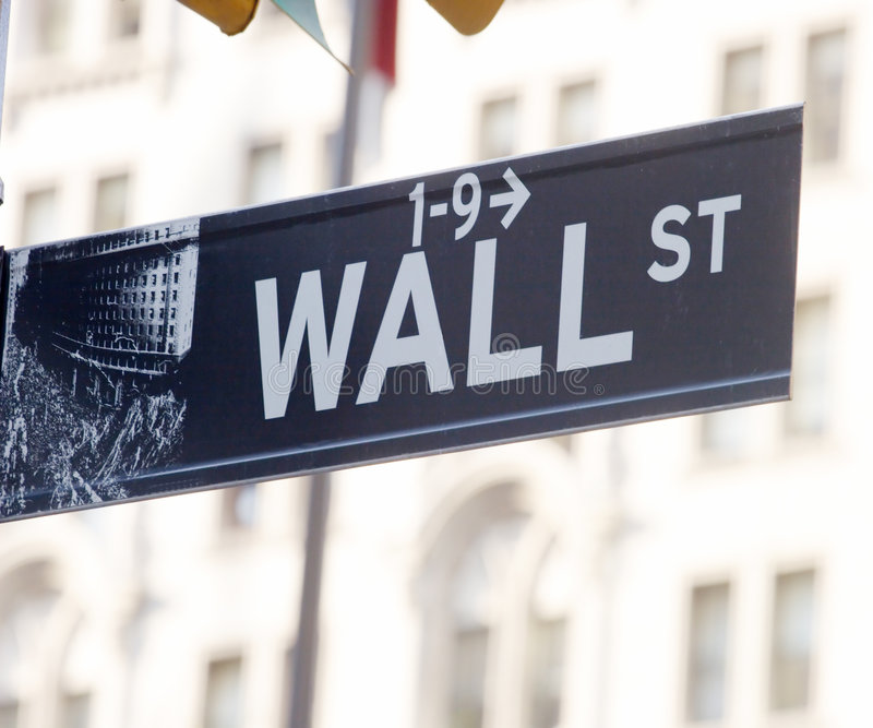 Download Wall Street Sign Editorial Stock Image - Image: 7546044