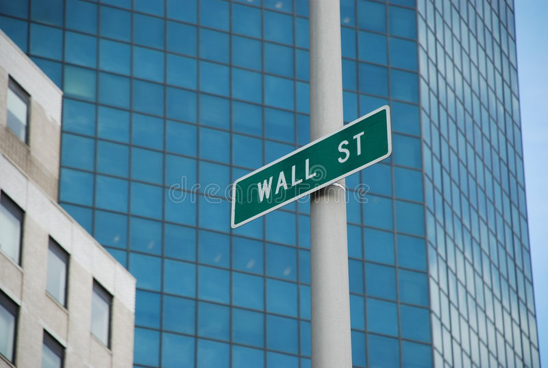 Wall street sign royalty free stock photos