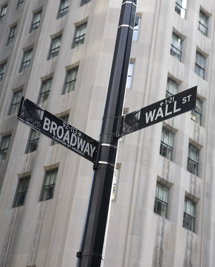 Free Wall Street Sign Stock Photography - 8030392