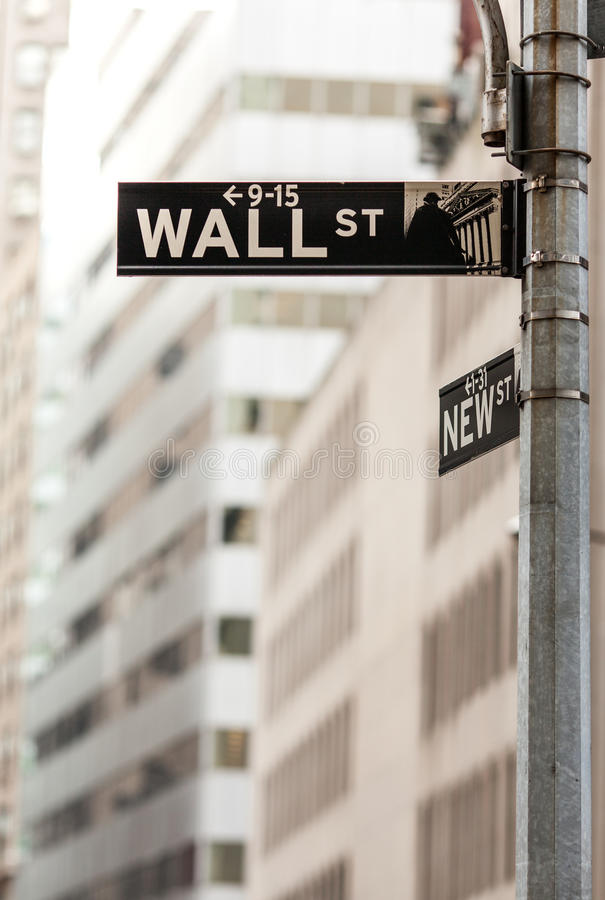 Download Wall street sign editorial photography. Image of nasdaq - 34372147