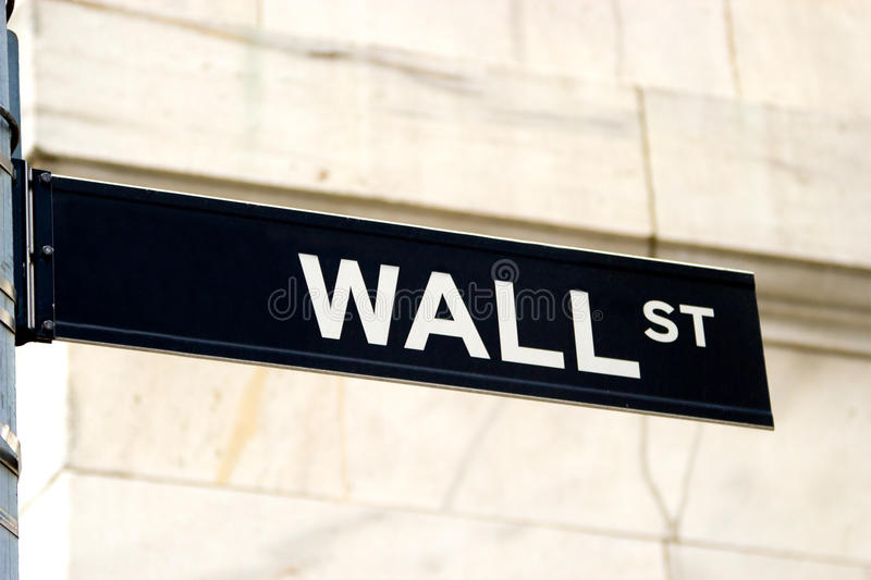 Download Wall Street Sign, NYC stock photo. Image of road, nobody - 26602932