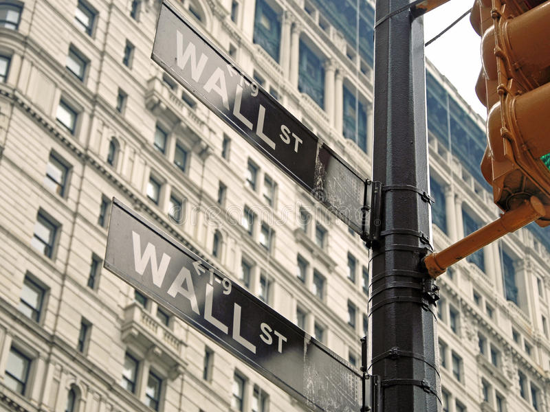 Download Wall Street Signs In New York City Close-up View Editorial Photography - Image: 18617907