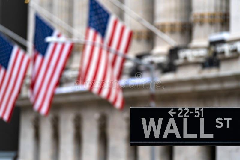Wall Street foto de stock