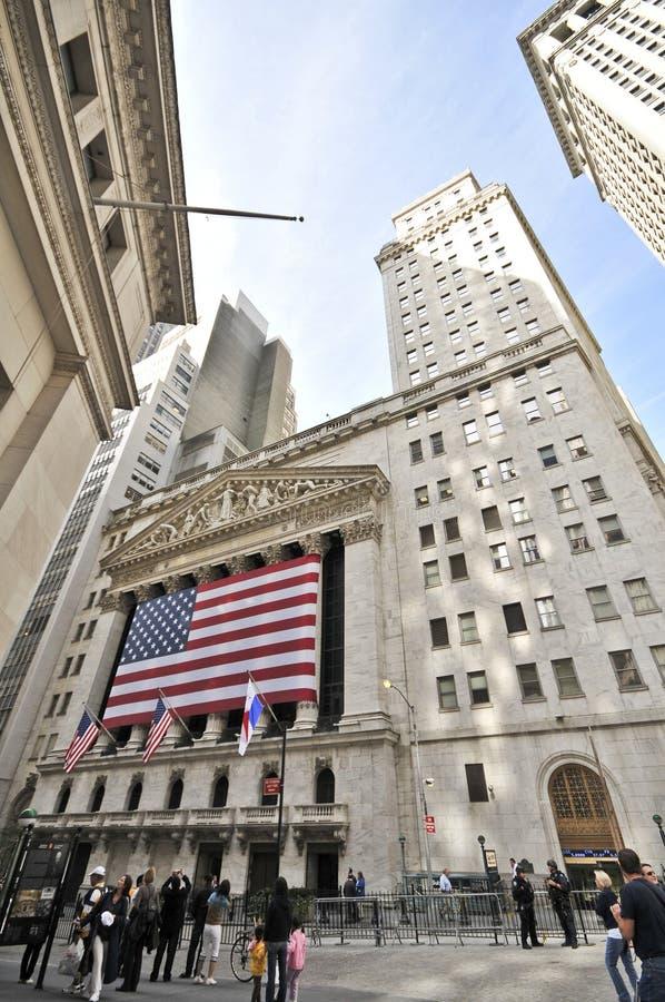 Wall Street Stock Exchange stock image