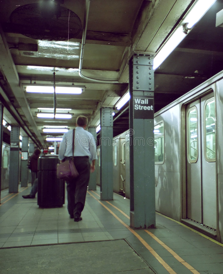 Download Wall Street Subway Commuter New York USA Stock Photo - Image of bustle, america: 3174032