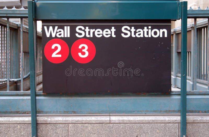 Wall Street Subway Station stock photo