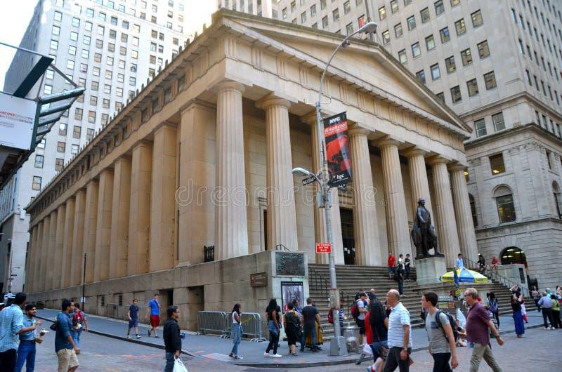 Wall Street und New York Stock Exchange, New York City, USA stockbild