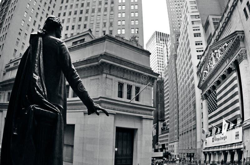 Wall Street w Manhattan Nowy Jork zdjęcie royalty free