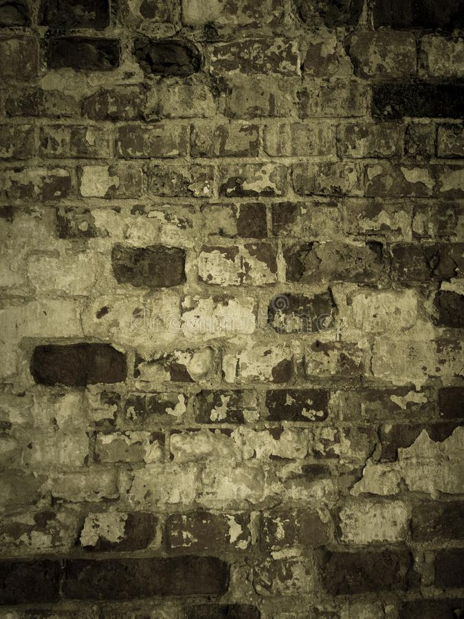 Backdrop with old brick wall. Shabby surface of old masonry. royalty free stock images