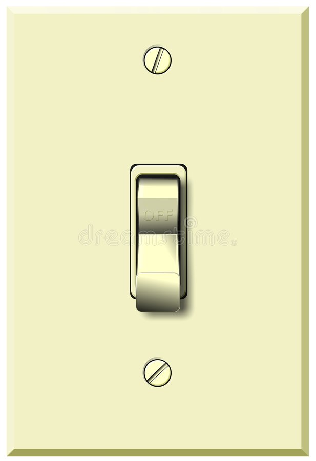 Download Wall Switch In Off Position Stock Photo - Image: 7610980