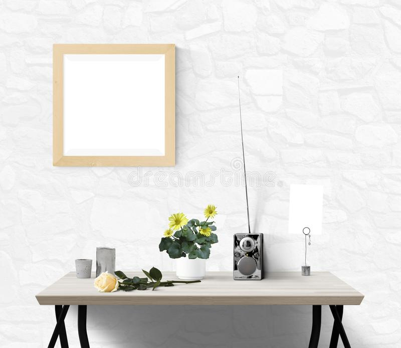 Wall, Table, Interior Design, Wallpaper royalty free stock images