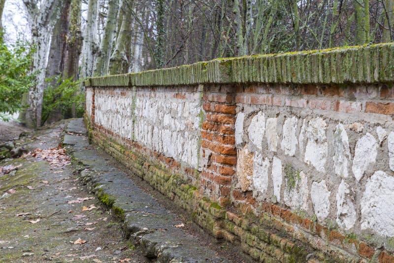 Wall in the tajo river. Aranjuez, Madrid, Spain.World Heritage S royalty free stock photo