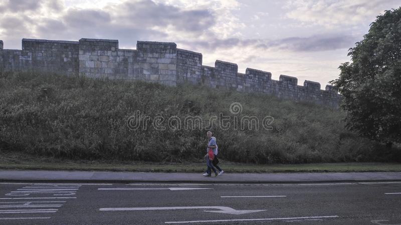 The wall in york,united kingdom. The wall is taken in york,united kingdom royalty free stock image