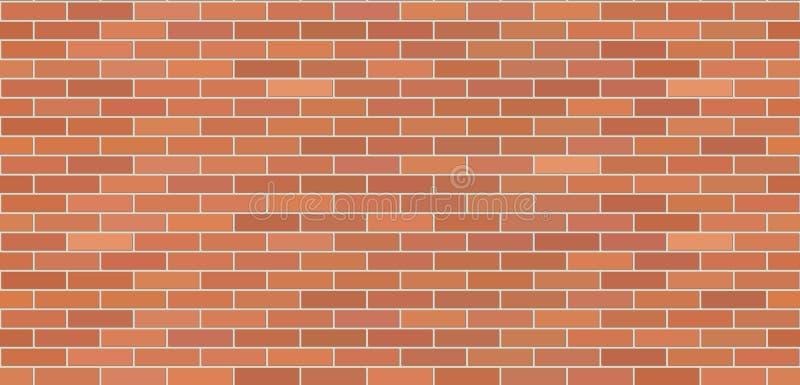 Brick wall brown seamless texture. Masonry background vector illustration