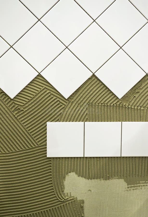 Wall tile glue stock image